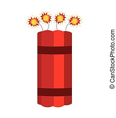 dynamite comic isolated icon