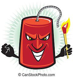 Dynamite Crazy - Dynamite cartoon character preparing to ...