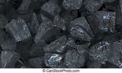 Dynamite explosion of broken coal rock 4k