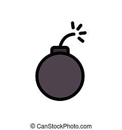 dynamite flat color icon