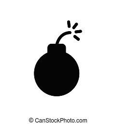 dynamite glyph flat icon