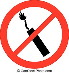 dynamite sticks not allowed sign