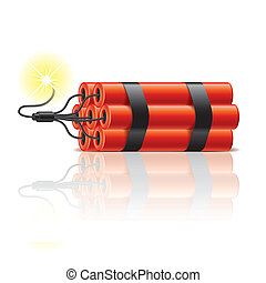 Dynamite sticks vector illustration