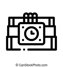 Dynamite Tool Icon Vector Outline Illustration