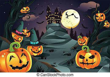 dynie, halloween, tło