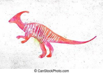 Dynosaur parasaurolophus vivid
