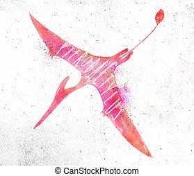 Dynosaur pterodactylus vivid