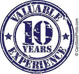 dyrbar, 10, år, av, erfarenhet, gnida