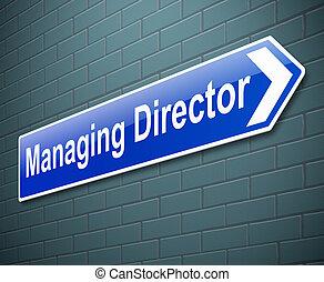 dyrekcyjny dyrektor, concept.