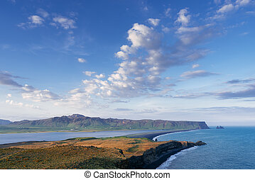 Dyrholaey cape - a tourist attraction in Iceland - View from...