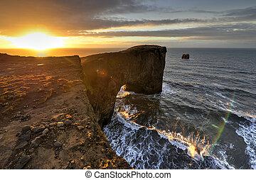 Dyrholaey Sea Rock Arch, Iceland