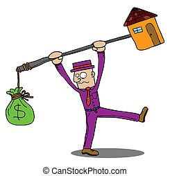 dyrt, hus