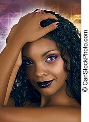 dyskoteka, afrykańska kobieta