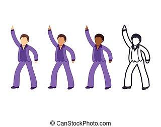 dyskoteka, człowiek, taniec