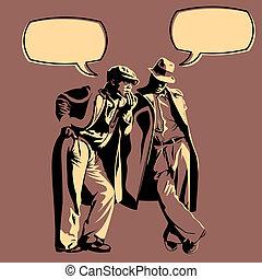 dyskusja, mężczyźni