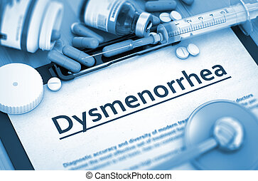 Dysmenorrhea Diagnosis. Medical Concept. 3D.