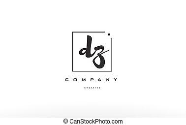 dz d z hand writing letter company logo icon design