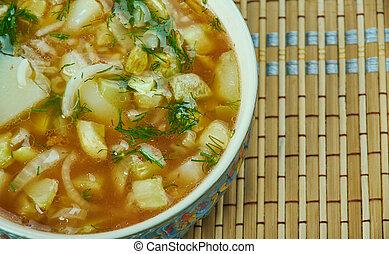 Armenian soup. - Dzavarapur - Armenian soup. Armenian...