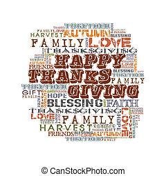 dziękczynienie, szczęśliwy