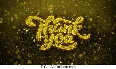 dziękować, karta, zaproszenie, życzenia, powitania, ty, fajerwerk, celebrowanie
