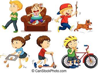 działalność, różny, dzieci
