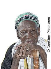 dziad, odizolowany, afrykanin