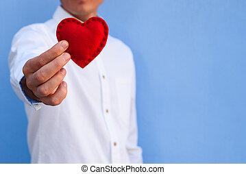 dzień, święto, powitania, dar, valentine