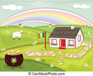dzień, święty, irlandia, patryk