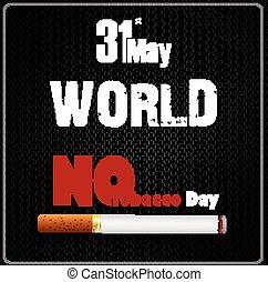 dzień, 31, nie, może, świat, tytoń