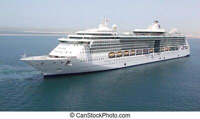 dzień, chodzenie, statek, słoneczny, powoli, rejs, dubai, ...