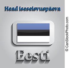 dzień, estonia, niezależność