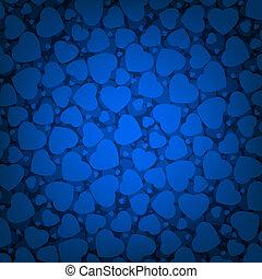 dzień, hearts., 8, błękitne tło, eps, valentine