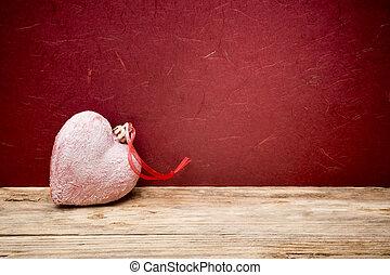 dzień, hearts., tło, list miłosny