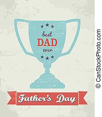 dzień, karta, ojcowy