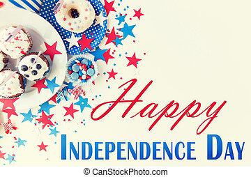 dzień, niezależność, szczęśliwy