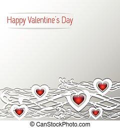 dzień, serce, list miłosny, projektować