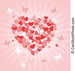 dzień, serce, list miłosny
