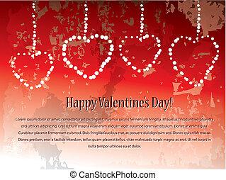 dzień, tło, valentine