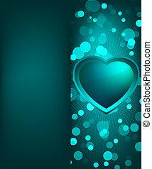 dzień, valentine karta, z, heart., eps, 8