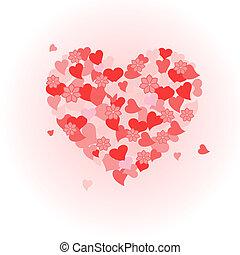 dzień, valentine's, serce