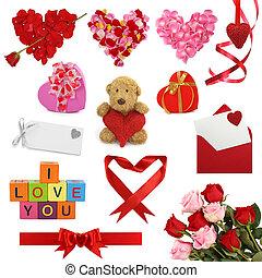 dzień, zbiór, valentine