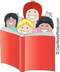 dzieci, czytanie książka