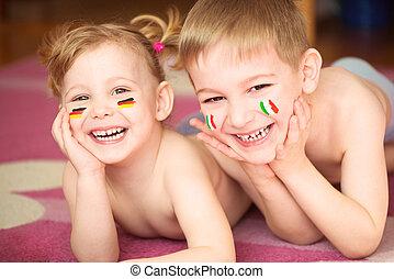 dzieci, europejczyk