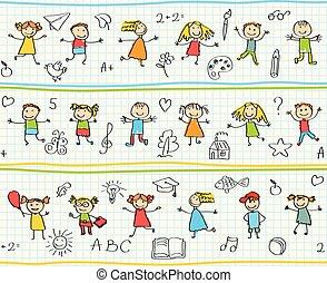 dzieci, rysunki