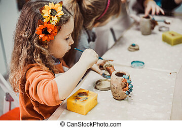 dzieci, siła robocza, sculpts
