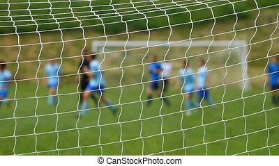 dzieci, soccer gra