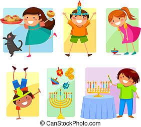 dzieciaki, hanukkah