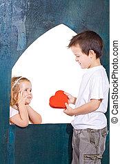 dzieciaki, miłość, interpretacja, szczęśliwy
