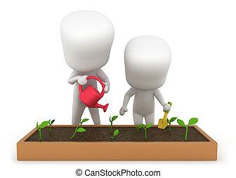 dzieciaki, ogrodnictwo