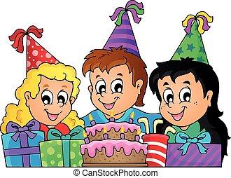 dzieciaki, partia, temat, wizerunek, 9